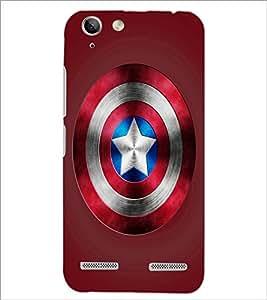 PrintDhaba Captain America Shield D-3328 Back Case Cover for LENOVO VIBE K5 PLUS (Multi-Coloured)
