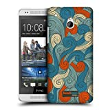 Head Case Blue And Orange Vivid Swirls Snap-on Back Case Cover For Htc One Mini