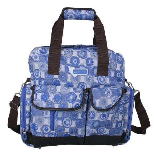 ECOSUSI Diaper Backpack Diaper Bags Baby Bags Large Capacity (Blue Dot)