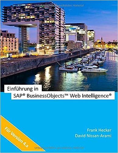 Einführung in SAP BO Web Intelligence!
