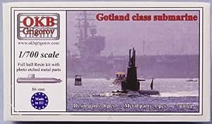 1/700 スウェーデン海軍ゴトランド級潜水艦