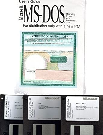 Microsoft MS-DOS 6.22 Operating System on 3.5