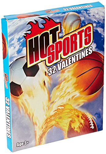 Paper Magic Hot Sports Valentine Exchange Cards (32 Count)