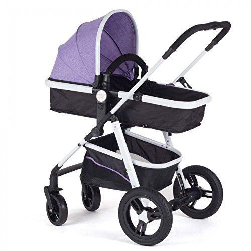 Baby-Vivo-Cochecito-de-Beb-Combinado-2-en-1-Prpura
