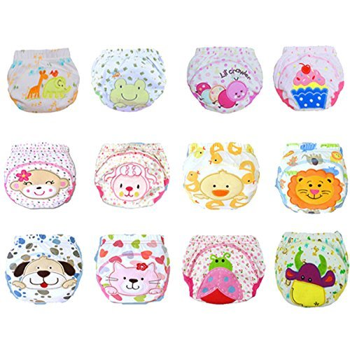 12 Pcs Baby Boys Girls Toddler Toilet Pee Potty Training Pants Cartton Underwear Size L - 1