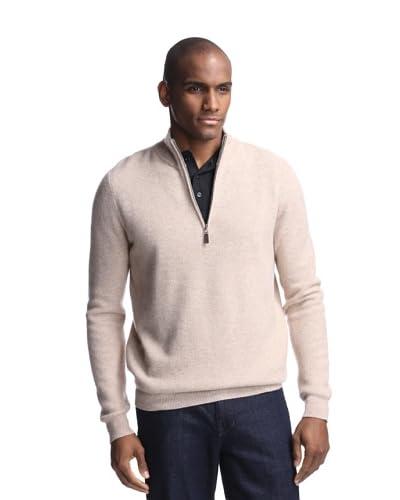 Griffen Men's Pique Quarter Zip Mock Neck Sweater
