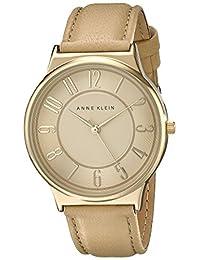 Anne Klein Women's AK/1928TNTN Easy To Read Dial Watch With Tan Leather Strap