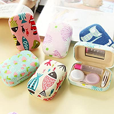 Lovely Korean Contact Lens Case Rectangle Lenses Holder Box Travel Kit Case J
