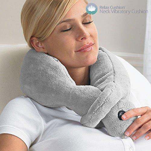 Relax Cushion Cuscino Massaggiante per Collo Cervicale Massaggiatore Vibrante