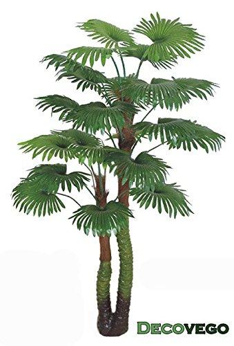 Palme-Palmenbaum-Fcherpalme-Kunstpflanze-Kunstbaum-Knstliche-Pflanze-170cm-Decovego