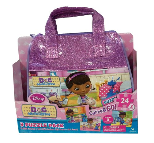 Doc McStuffins Carry and Go Jigsaw Puzzle in Bags, 3-Pack