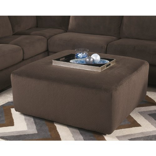 Flash Furniture Jessa Place Oversized Ottoman, Chocolate Fabric