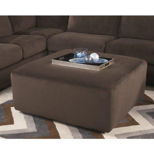 Flash Furniture Jessa Place Oversized Ottoman, Chocolate Fabric