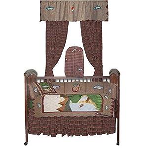 Patch magic gone fishing crib bedding for Fishing nursery bedding