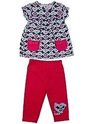 Littleopia Baby Girls' Dress (L01-1212 - 004A-B_Navy Fuschia_3-6 Months)