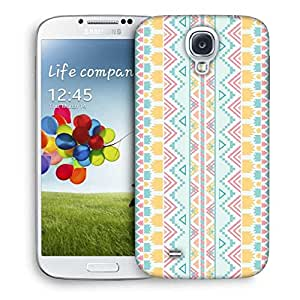 Snoogg Light Blue Aztec Designer Protective Back Case Cover For Samsung Galaxy S4