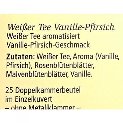 Meßmer Weißer Tee Vanille-Pfirsich 25 Teebeutel - 12 Packungen von Meßmer - Gewürze Shop