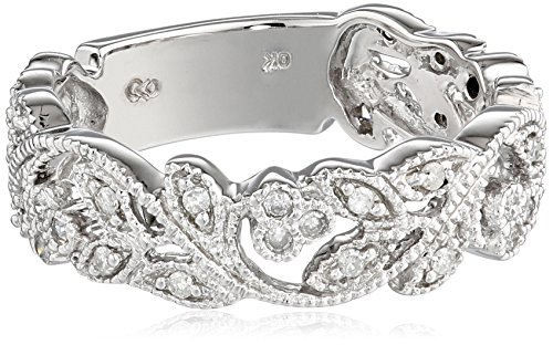 10k White Gold White Diamond Ring (.25 cttw, H-I Color, I3 Clarity), Size 6