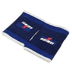 Waterwood Water & Wood Pair Black Blue Pinstripe Elastic Wrist Support Brace Pullover Sleeve