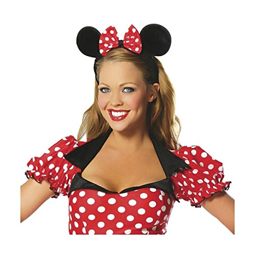 GSG Mighty Mouse Adult Sexy Red Polka Dot Halloween Costume (Teen Polka Dot Clown Costume)