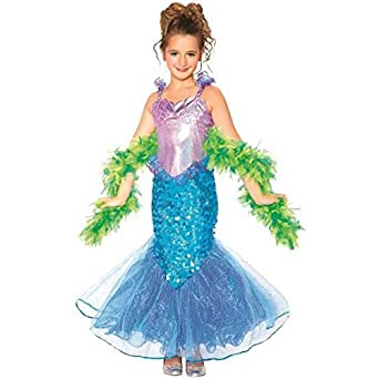 ETSYG® Girls Mermaid Costume Sparkle Classic Kids Fashion Party Toys Dress