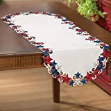 Collections Etc Americana Stars Patriotic Table Runner