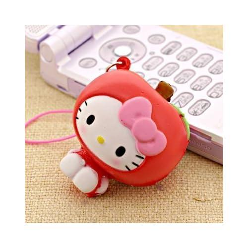 Sanrio Hello Kitty as Fresh Fruit Ball Cell Phone Strap