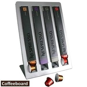 distributeur capsule nespresso pour 4 paquets argent. Black Bedroom Furniture Sets. Home Design Ideas
