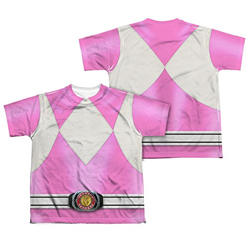 Power Rangers Children's Live Action TV Series Pink Costume Big Boys 2Side Print