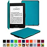 Fintie Kindle Paperwhite SmartShell Case - The Thinnest and Lightest Leather Cover for All-New Amazon Kindle Paperwhite (Fits All versions: 2012, 2013, 2014 and 2015 New 300 PPI), Blue