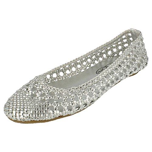 Spot On, Ballerine donna, Argento (argento), 35