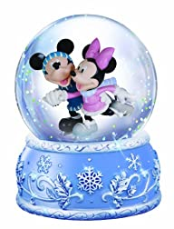 Precious Moments Disney Mickey and Minnie Ice Skating Waterball