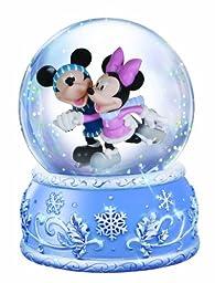 Precious Moments Disney Mickey and Minnie Ice Skating Waterball