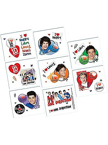 One Direction Tattoo Favors 16ct - 1