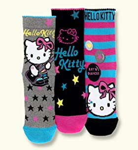 3 Pairs of Older Girls&#39; Hello Kitty Socks