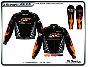 2014 Dale Earnhardt Jr. Junior Nation Mens Black Twill Nascar Jacket 2X by J.H. Design