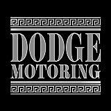 ダッジ モータリング ステッカー シルバー 銀