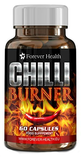 CHILLI BURNER - Verbrennt Fett wie ein Lauffeuer ! Verlieren Sie bis zu 5 Kilo in 12 Wochen! Speziell Formuliert um die Thermogenese zu erhöhen die dafur zuständig ist den Stoffwechsel zu erhöhen und somit mehr Fett zu verbrennen! Enth&auml