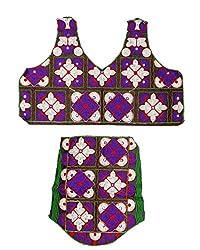 PurpleYou Women's Cotton Blouse (E5BLMC227, Multi Color)