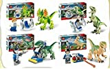 Jurassic World Park Building Blocks Sets Dinosaur Bricks Toys Brinquedos Juguetes Educativos 4 Pcs/set. With Sticker