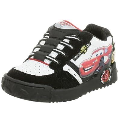 Disney Cars Toddler/Little Kid Skate Slip-On,Black/White,7.5 M US Toddler