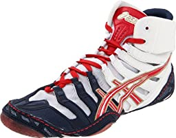 ASICS Men\'s Omniflex Pursuit Wrestling Shoe,Navy/White/Red,9 M US