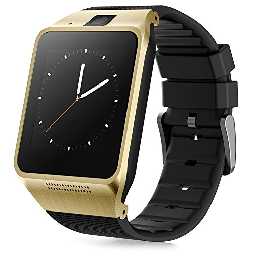 Padgene Bluetooth V3.0 SmartWatch for Samsung S3 / S4 / S5 / Note 2 / Note 3 / Note 4, HTC one M8 / M9, Sony and other Android Smartphones, Gold
