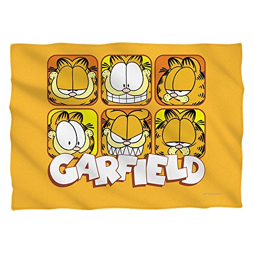Wicked Tees GARFIELD FACES Pillow Case