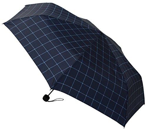 【晴雨兼用】 折りたたみ傘 収納袋入 シングルチェックネイビー ミニ 58cm MSM-009