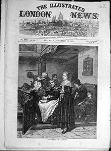 1871 Divine-Service Ochmichen Church Religious Print