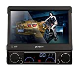 PUMPKIN-7-Zoll-1-Din-Autoradio-Moniceiver-DVD-Player-mit-Klappbaren-Touchscreen-Untersttzt-GPS-Navi-Bluetooth-USB-SD-DVB-T