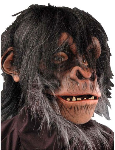 Scary-Masks Chimp Mask Halloween Costume - Most Adults