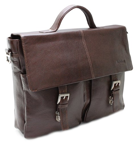 BOVARI Messenger Bag Laptop Bag 39x30x10 cm Model Lyon - brown