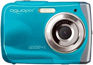 Easypix W1024-I Splash Digital Camera - Ice Blue (10MP Sensor, 4x Digital Zoom, VGA Video with Sound) 2.4 inch TFT